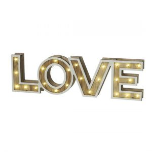 Light Up LED Love Sign