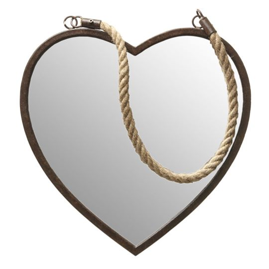 Rustic Heart Mirror