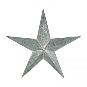 Large Grey Metal Star