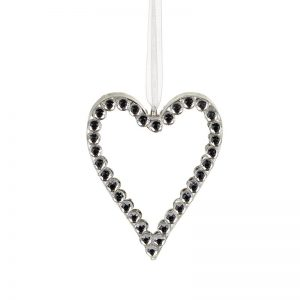 Glass Heart With Double Side Diamante