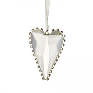 Glass Heart with Edge Detail.