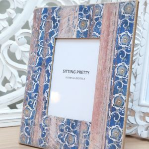 Blue Wooden photo Frame