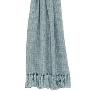 Tassel Throw Duck Egg Blue