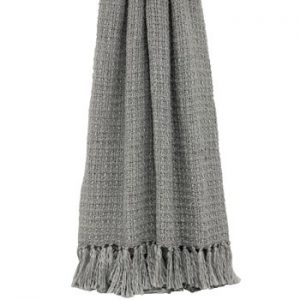 Tassel Throw Grey