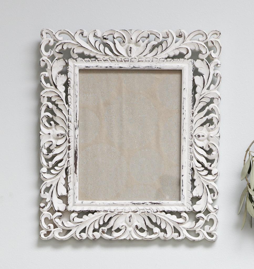 Ornate White Photo Frame