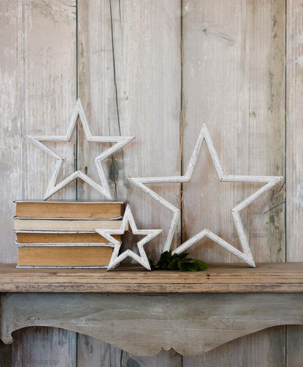 Set of 3 Mantelpiece Star