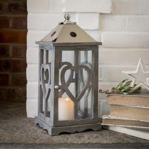 Grey Wooden Lantern