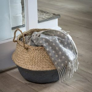 Grey Dip Seagrass Basket
