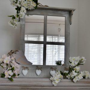 Shabby Chic Mirror with Shelf