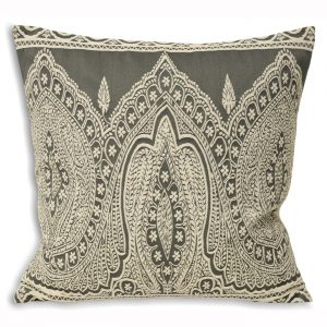 Paisley Cushion Grey