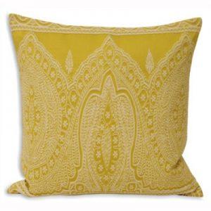 Paisley Cushion Yellow