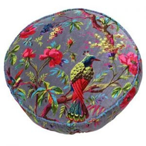 Round Birds of Paradise Floor Cushion Mink