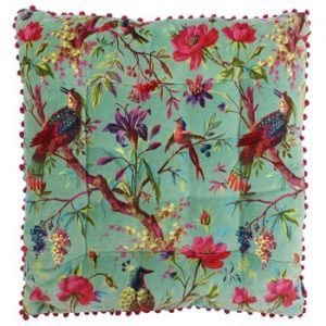 Birds of Paradise Floor Cushion Mineral