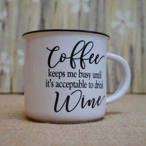 China Mug Coffee Keeps Me Busy
