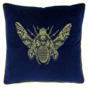 Bee Cushion Royal Blue