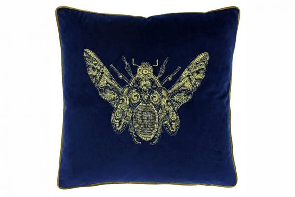 Bee Cushion Royal Blue