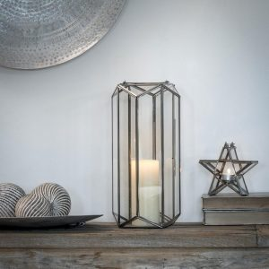 Chrome & Glass Lantern