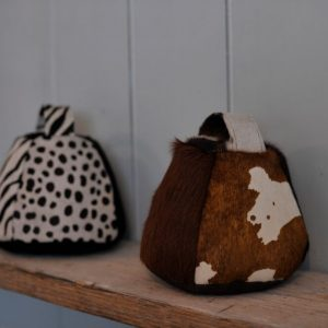 Owen Barry Brown Cowhide Doorstop