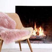 Owen Barry Rose Pink Sheepskin Rug