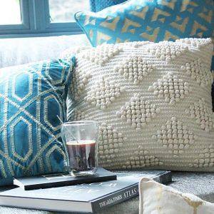 Cream Boho Cushion