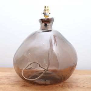 Recycled Glass Lamp Smoke