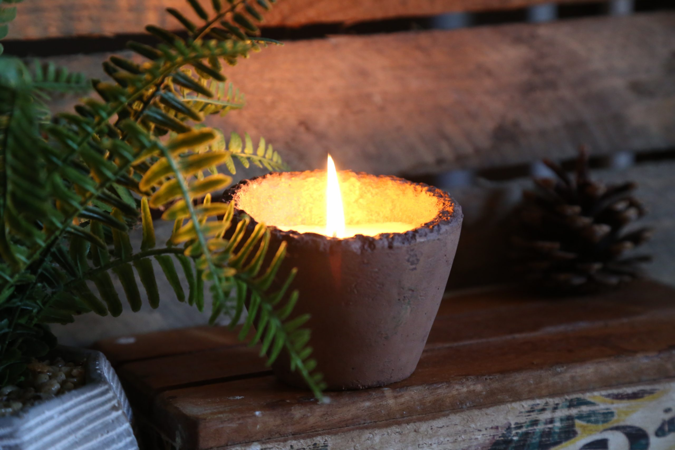 Apple & Elderflower Scented Candle